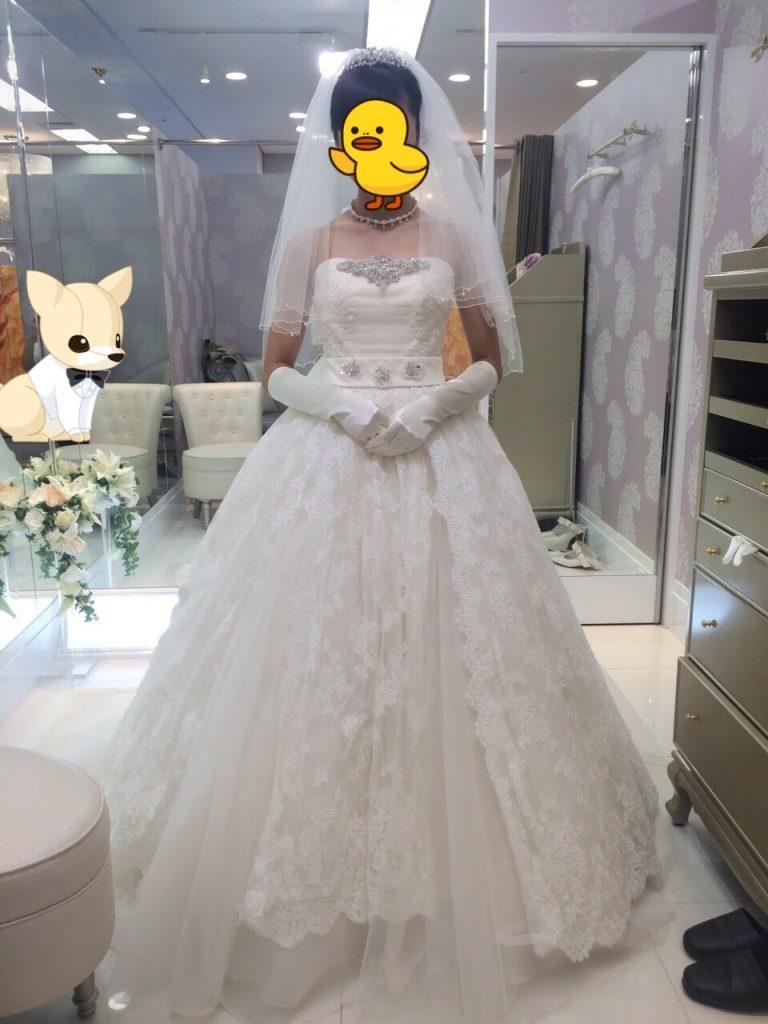 ジルスチュアートのウェディングドレス・アルテミス