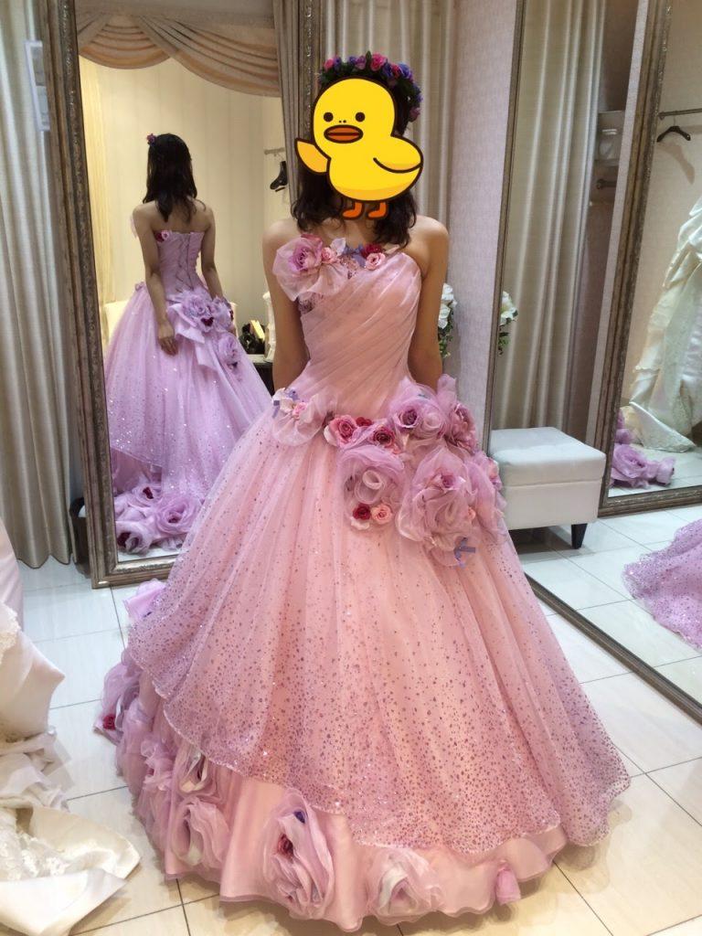 タカミブライダルのカラードレス・ラベンダーカスカータ