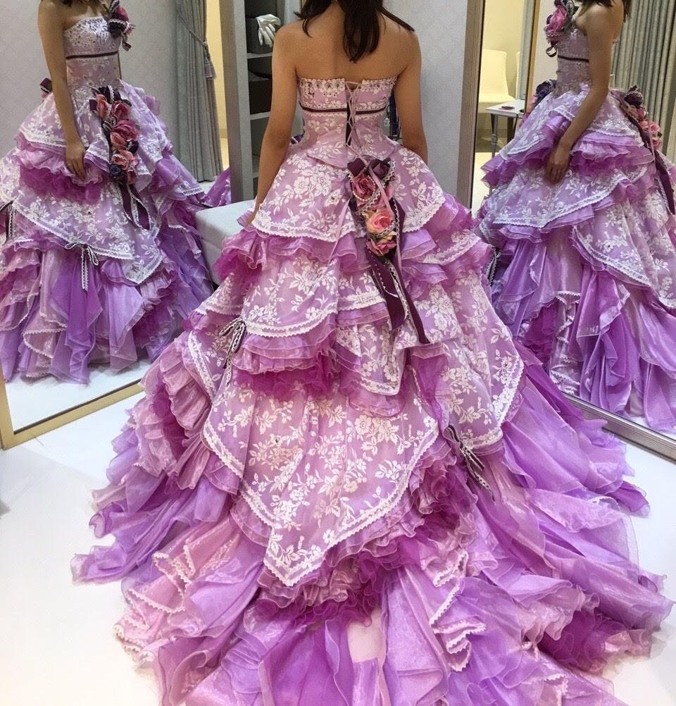 タカミブライダルのカラードレス・剛力彩芽デザイン・ラベンダーデザイア