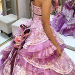 タカミブライダルのカラードレス、ラベンダーデザイア、剛力彩芽ドレス
