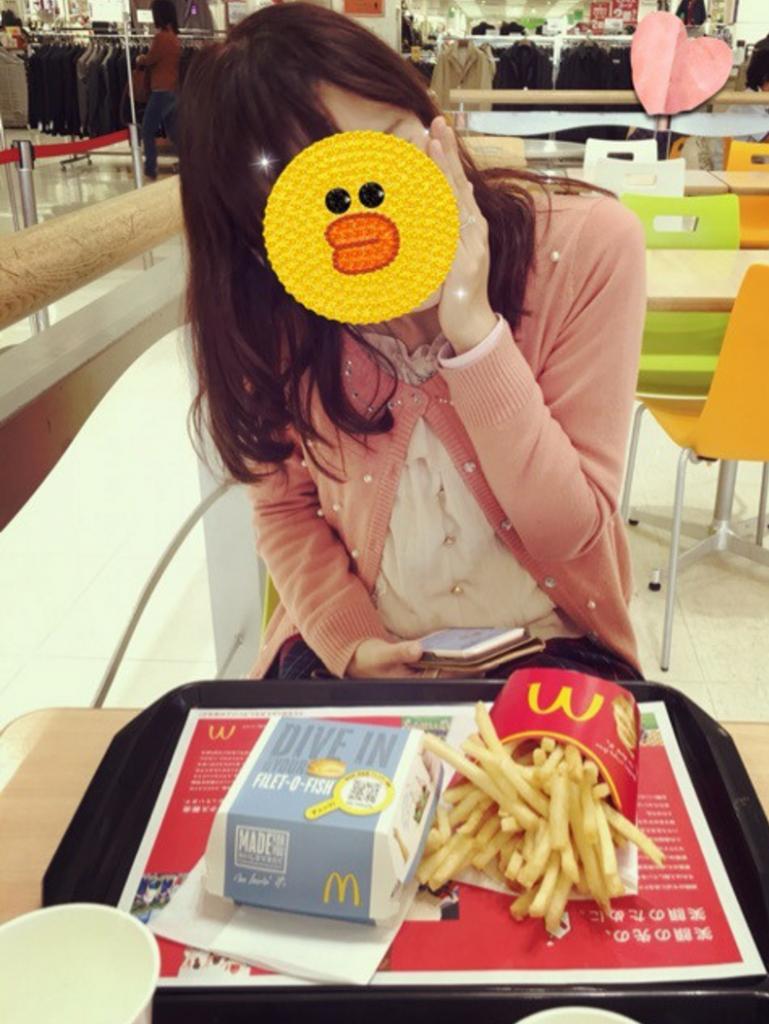 マクドナルドでお昼ごはん