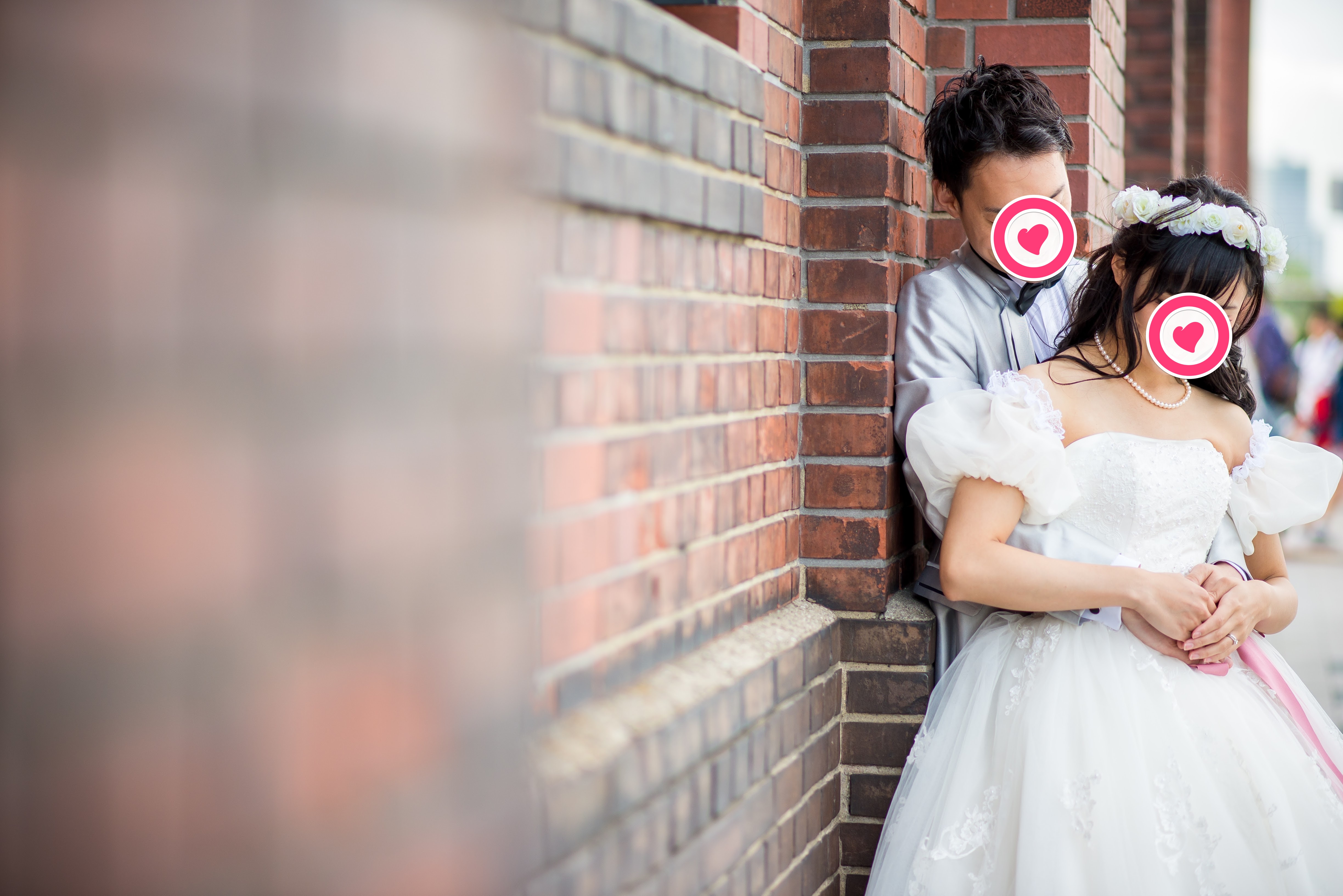 YNS weddingのウェディングドレスで前撮り