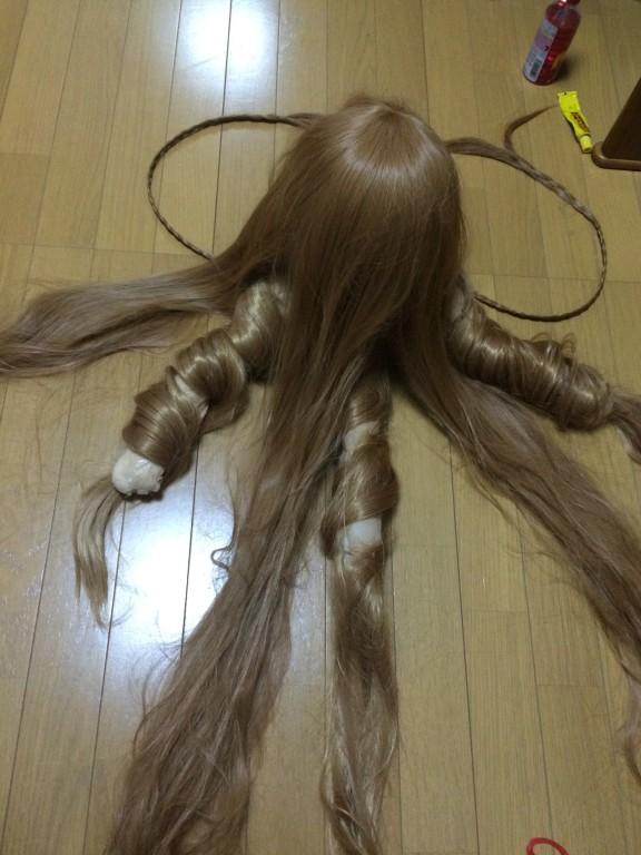 ディズニーハロウィン Dハロ仮装 ラプンツェル ウィッグ作り方