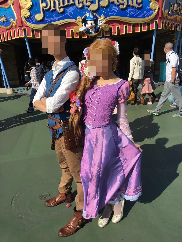 ディズニーハロウィン Dハロ仮装 ラプンツェル&フリン(ユージーン)仮装レポ