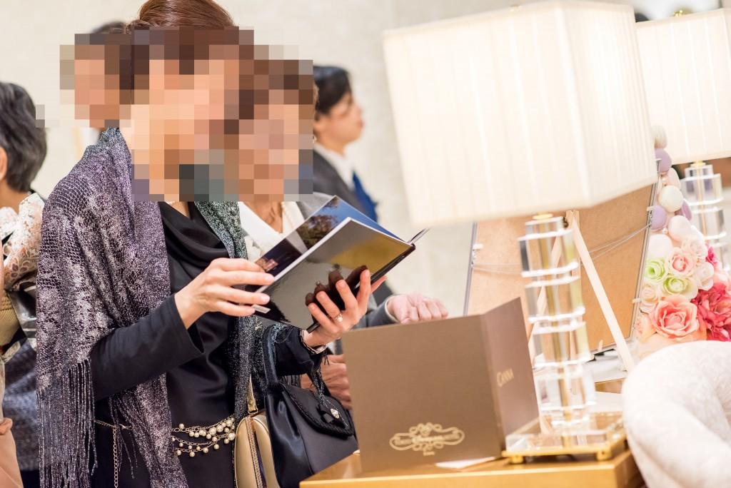 アニヴェルセルみなとみらい横浜 ヴィラスウィート結婚式のウェルカムスペース