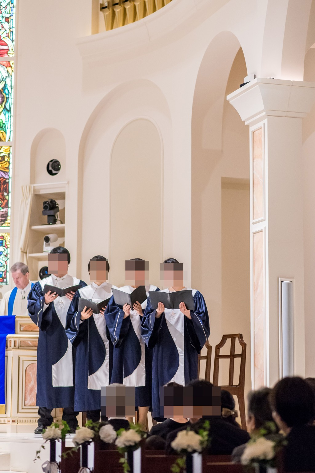 アニヴェルセルみなとみらい横浜 結婚式レポブログ チャペルでの挙式(神前式)確認の儀、誓約、賛美歌