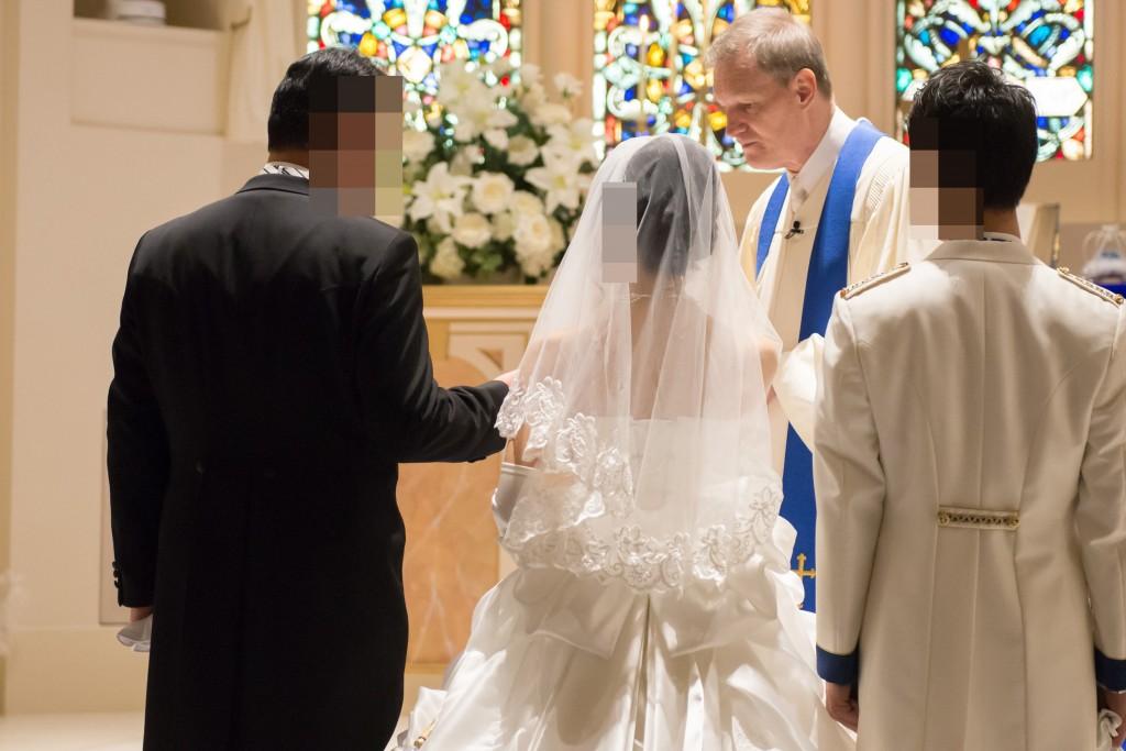 アニヴェルセルみなとみらい横浜 結婚式レポブログ チャペルでの挙式(神前式)確認の儀、誓約