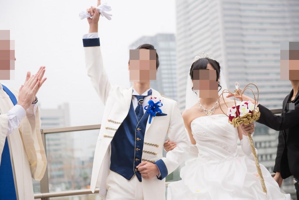 アニヴェルセルみなとみらい横浜 結婚式レポブログ フラワーシャワー(アフターセレモニー)