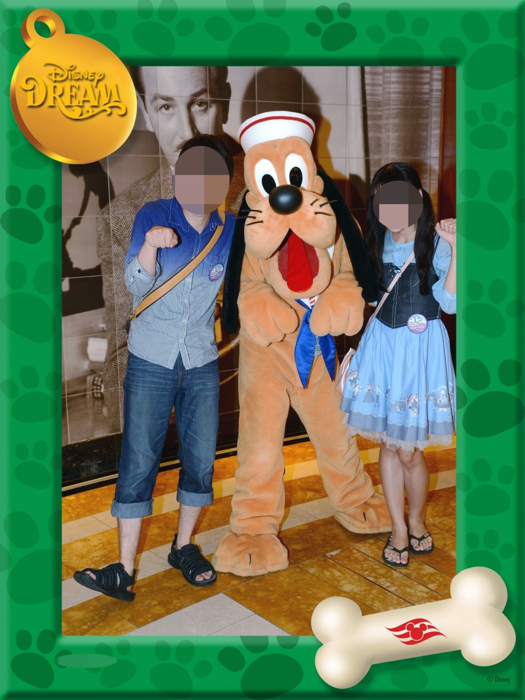 WDW旅行記ブログ/DCL旅行記ブログ 乗船初日のキャラグリ(キャラクターグリーティング)