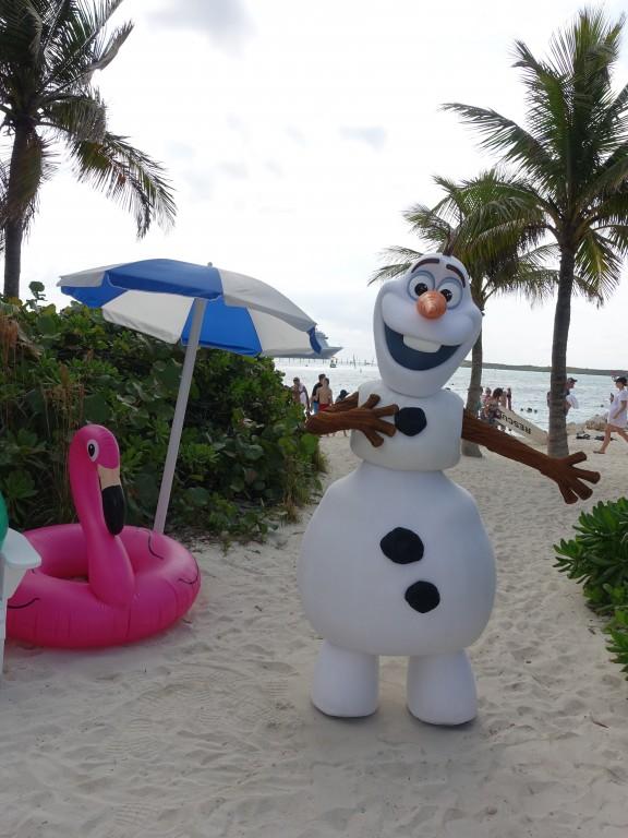 WDW旅行記ブログ/DCL旅行記ブログ ディズニークルーズライン4泊バハマ航路 キャスタウェイケイのお土産写真&オラフとグリーティング(オラフの店)