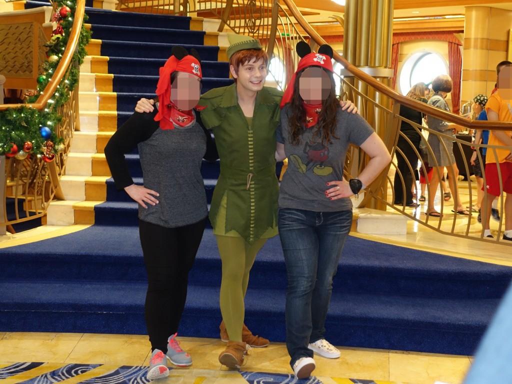 WDW旅行記ブログ/DCL旅行記ブログ ディズニークルーズライン4泊バハマ航路 パイレーツナイトのキャラクターグリーティング