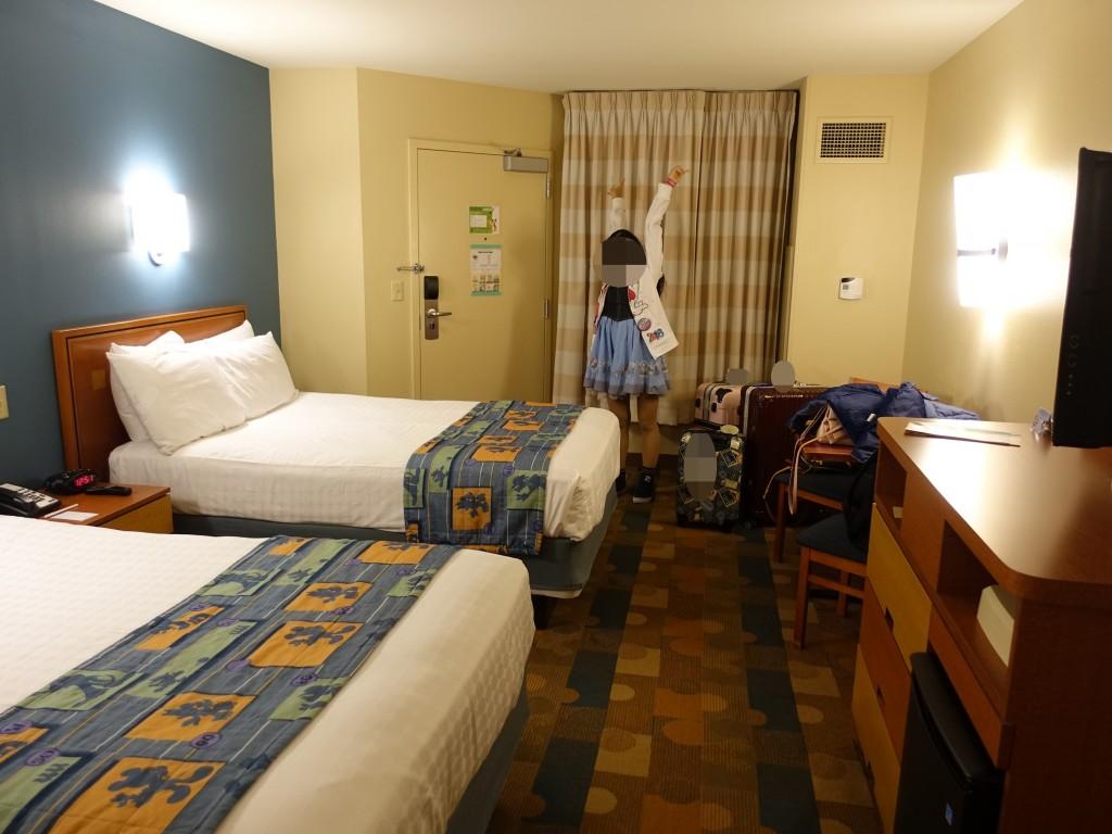 WDW旅行記ブログ/DCL旅行記ブログ ポップセンチュリーリゾートの部屋
